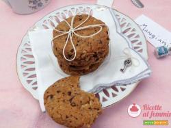 Cookies senza burro con gocce di cioccolato