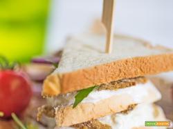 Sandwich alici e crescenza