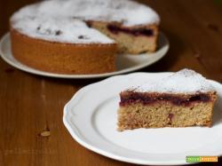Torta integrale soffice con marmellata
