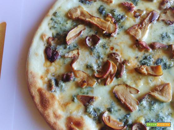 Pizza Gorgonzola Parmigiano e Porcini
