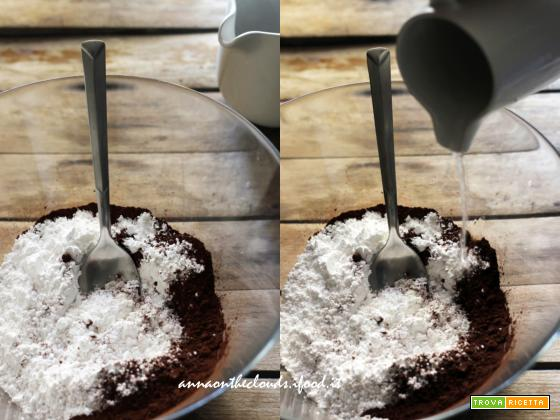 Glassa all'acqua al cacao