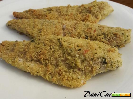 Filetti di merluzzo gratinati al forno con panatura aromatica