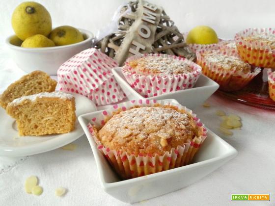 Muffin limone frullato mandorle e grappa