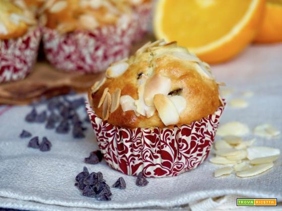 Muffin all'Arancia, Cioccolato e Mandorle