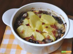 Tortino di patate e radicchio al forno
