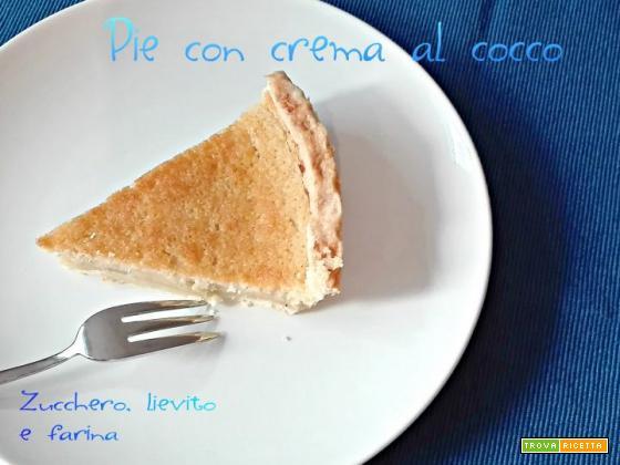 Pie con crema al cocco