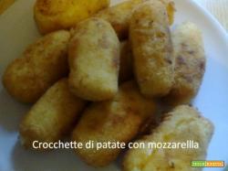 Crocchette di patate con mozzarellla