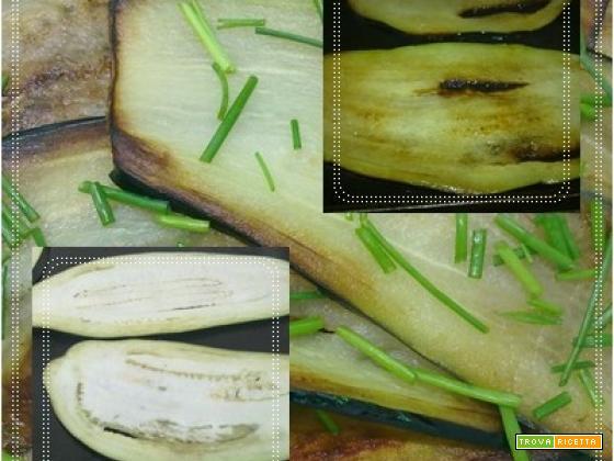 Melanzane fritte con erba cipollina