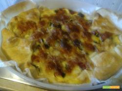 Torta rustica pancetta, zucchine