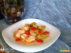Bocconcini di pollo con zucchina chiara