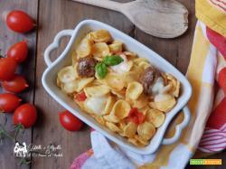 Orecchiette al forno con salsiccia di norcia - ricetta veloce