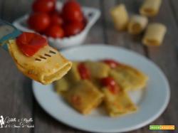 Paccheri con pesto alla genovese e pomodorini
