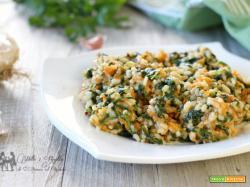 Risotto ai spinaci e zucca