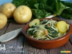 Spaghetti con le bietole, un piatto molto semplice però buono