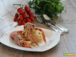 Spaghetti gamberi e scampi