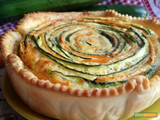 Torta brise con zucchine e carote