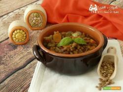 Zuppa di lenticchie e zucchine