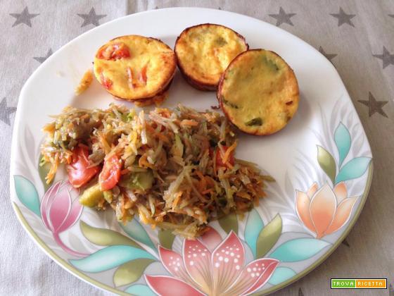 Tortini light alle verdure - Ricette al forno