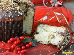 Panettone con gocce di cioccolato e Nutella