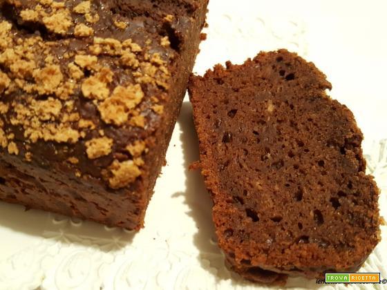 Plumcake al cacao, olio e miele con zucca e amaretti