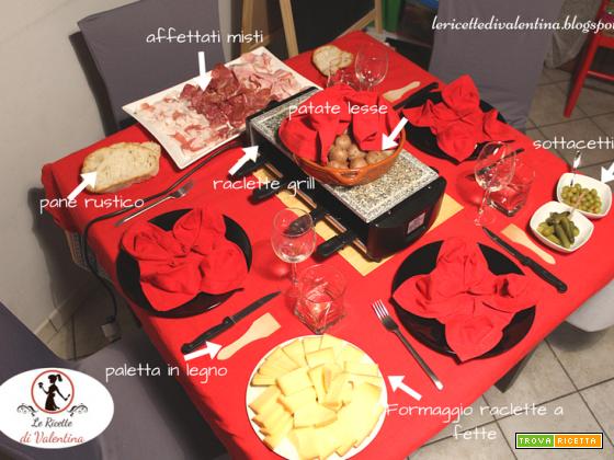 Raclette casalinga per un invito a cena speciale