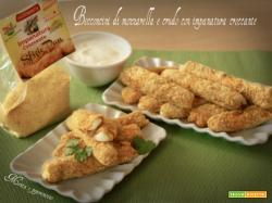 Bocconcini di mozzarella e crudo con impanatura croccante