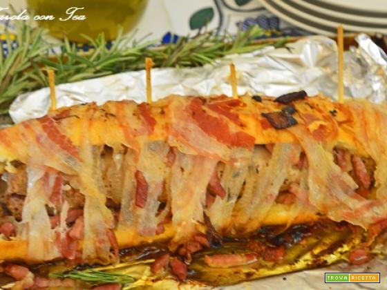Filetto in crosta di pane con pancetta