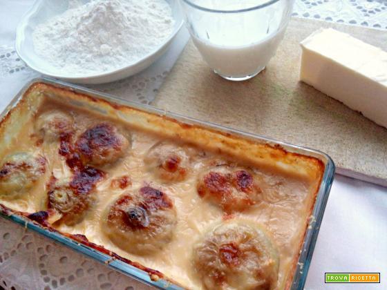 Cipolline con besciamella al forno
