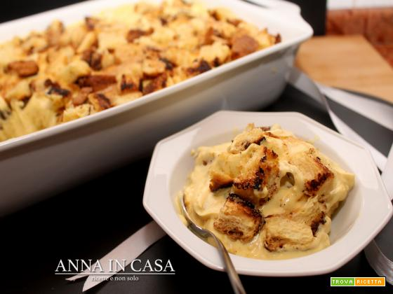 Teglia di pan brioche croccante e crema mascarpone