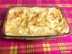 Lasagne al salmone affumicato e scaglie di parmigiano
