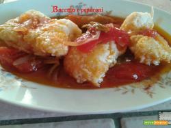 Baccalà con peperoni rossi