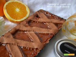 Crostata al cacao con marmellata arance