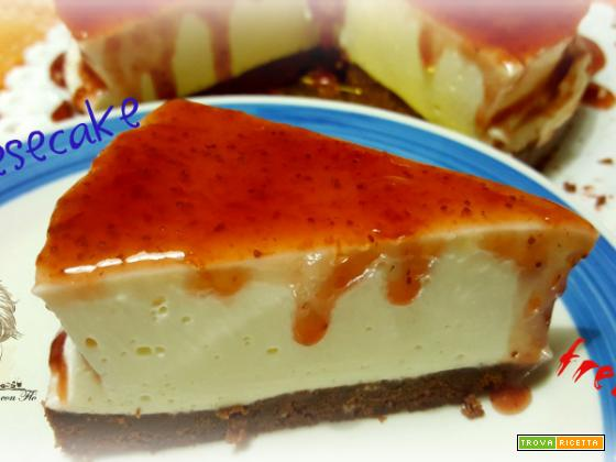 Cheesecake senza cottura cacao e fragola