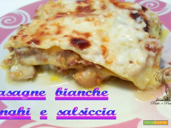 Lasagne bianche funghi e salsiccia