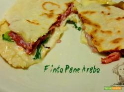 Pane arabo con esubero di pasta madre