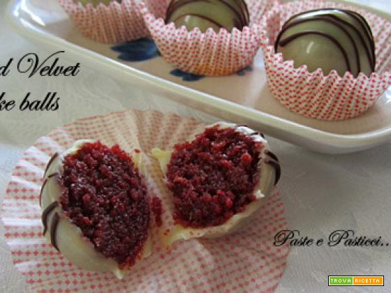 Red velvet cake balls