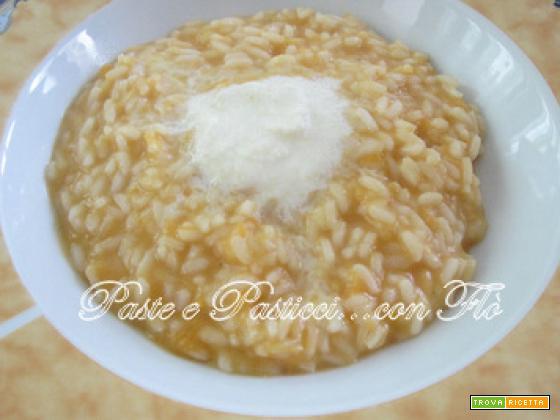 Risotto crema mozzarella e zucca gialla