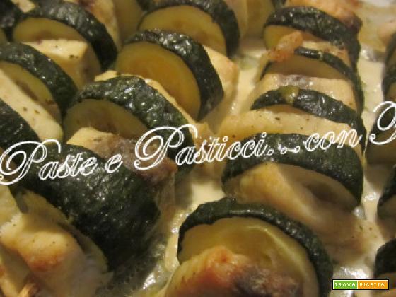 Spiedino di pesce spada e zucchine