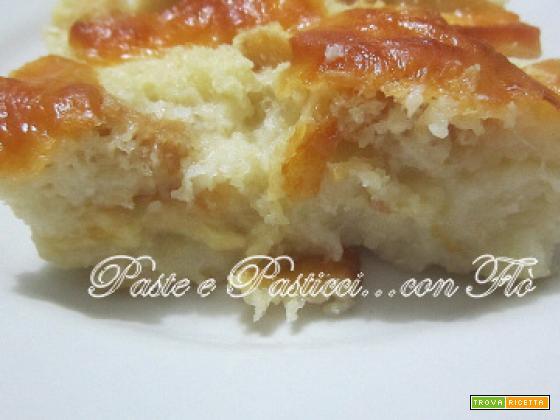 Teglia di pane e formaggio