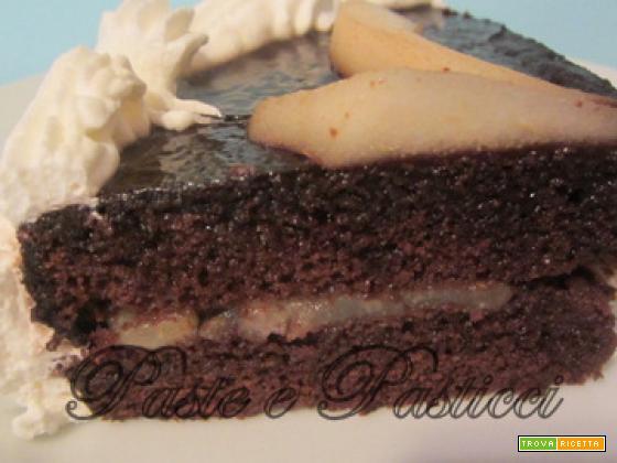 Torta cioccolato e pere.