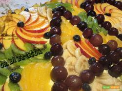 Torta rettangolare di frutta 40 anni