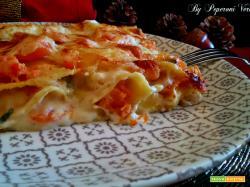 Lasagne gorgonzola e zucca
