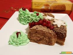 Tronchetto dolce con Roll Swiss Pralinè Freddi...
