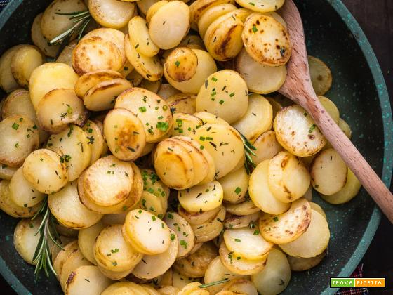 PATATE ARROSTITE in PADELLA LIGHT e VELOCISSIME  – ROSTKARTOFFELN TIROLESI