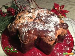 Stella di Natale alla cannella con uvetta e noci