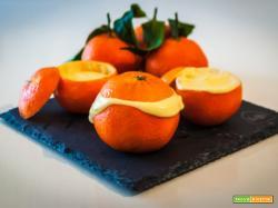 Mandarini ripieni con crema al mascarpone e panna montata