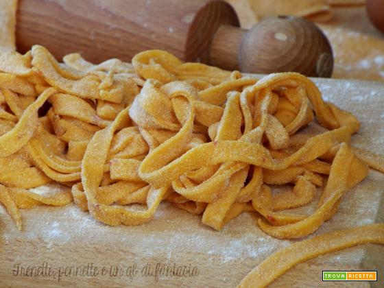 Fettuccine grano duro e crema nduja fatte in casa