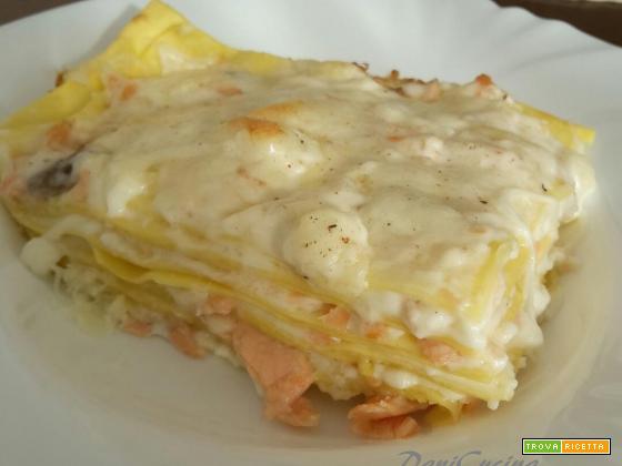 Lasagne al salmone affumicato