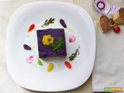 tortino di miglio e patate dolci viola