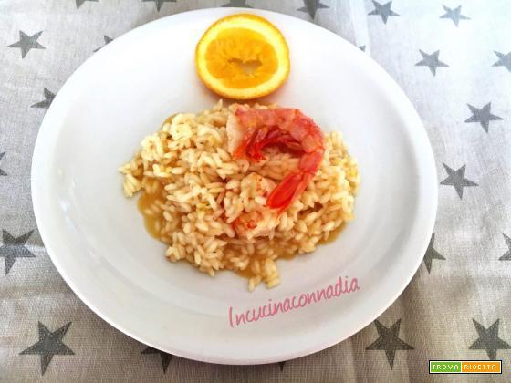 Risotto gamberi e arance